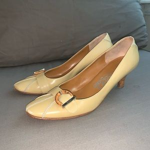 Vintage Salvatore Ferragamo Round Toe Heels